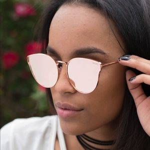 Quay All My Love Rose Gold Pink Sunnies Sunglasses